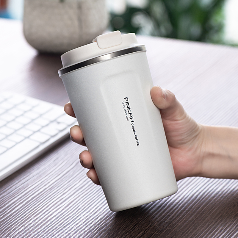 Image 5 - Hot Sale 380 & 510ml 304 Stainless Steel Thermo Cup Travel Coffee Mug with Lid Car Water Bottle Vacuum Flasks Thermocup for Gift-in Vacuum Flasks & Thermoses from Home & Garden