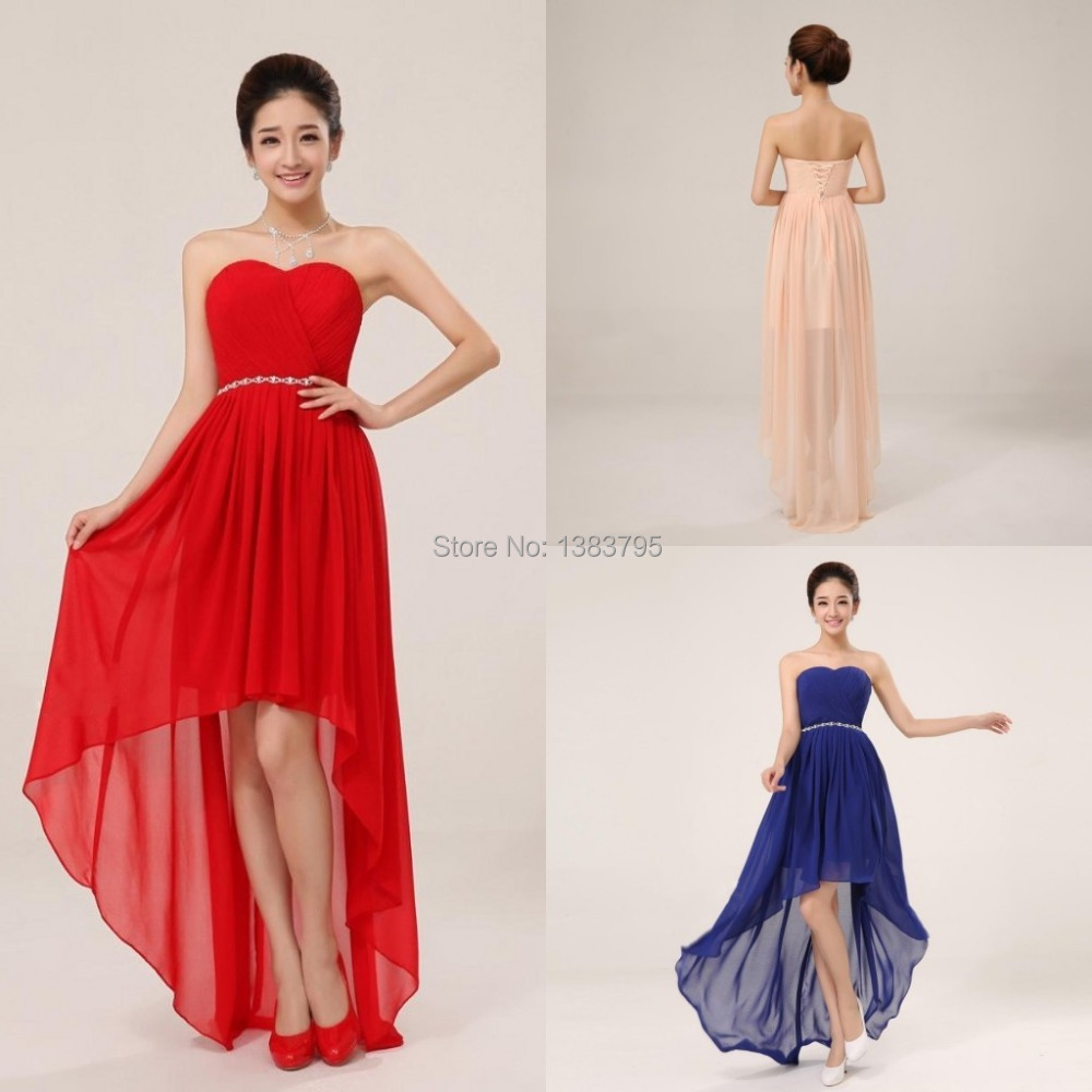 Aliexpress.com : Buy High Low Bridesmaid Dress for Wedding Party ...