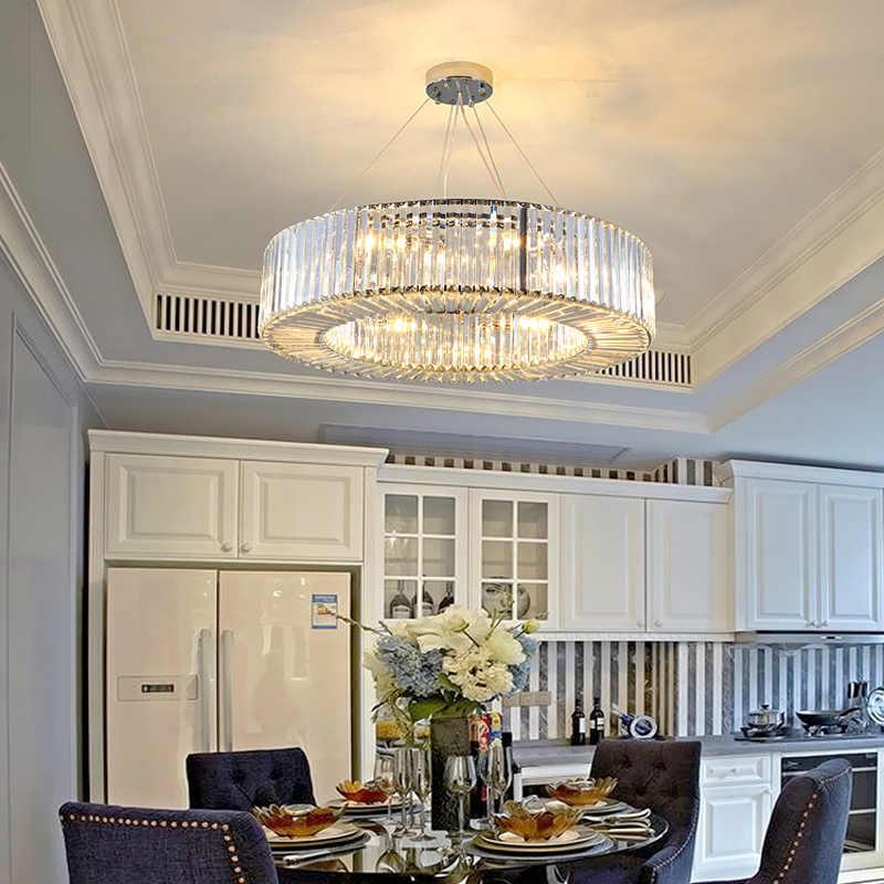 Novo design do lobby do hotel lustre de cristal moderna iluminação AC110V 220 V lustre sala de estar da sala de jantar luminárias