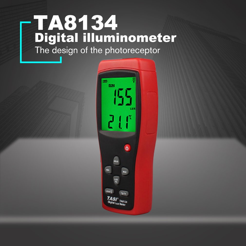 TA8134 Digital Luxmeter Digital illuminometer high precision photometer Light Meter 200,000 LUX Digital Luxmeter LuminanceTA8134 Digital Luxmeter Digital illuminometer high precision photometer Light Meter 200,000 LUX Digital Luxmeter Luminance