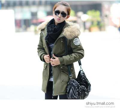 ФОТО Women Parkas 2016 Fashion Ladies Big Fur Hooded Slim Thicken Outerwear Winter Coats Women Cotton Padded Warm Overcoat A4507