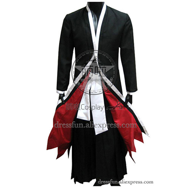 Bleach Cosplay Ichigo Kurosaki Bankai Form Costume Black Red Suit Outfits Party Halloween Uniform Fast Shipping