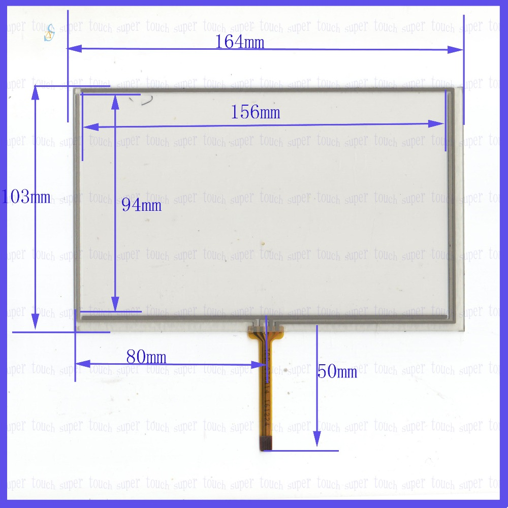 ZhiYuSun POST TPR070A14 7inch 4 wire resistive touch panel for Car DVD, 164* 103 GPS 164mm*103mm this is compatible-in Tablet LCDs & Panels from  Computer ...