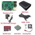 Raspberry Pi 3 Доска + 5 В 2.5A Зарядное Устройство + Чехол + Теплоотвод + Охлаждение вентилятор + HDMI Кабель + 8 Г SD Card Для Raspberry Pi 3 Модель B