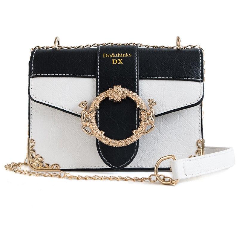 NEW Women PU Leather Casual Mini Shoulder Bag Girls Fashion Chain Ring Lock Crossbody Messenger Bag Lady Evening Party Clutch messenger bag