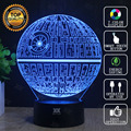 Death Star 3D Lamp Star Wars BB-8 Lamp LED Novelty Night Lights USB Light Glowing Child's Gift HUI YUAN Brand