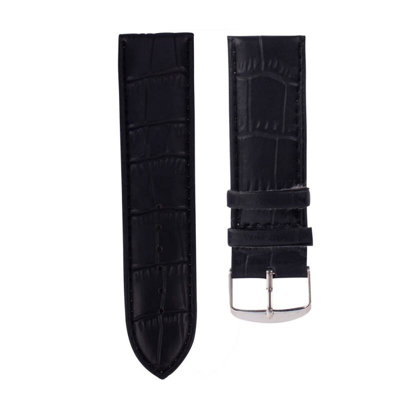 Excellent Quality 26mm Durable One Sweatband Watch Men Faux Leather Strap Watchband Steel Buckle Wrist Women Watches Bands