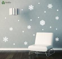 YOYOYU Snowflake Set Wall Sticker Christmas Home Decoration Accessories Vinyl Window Decals House Art Mural Holiday Decor SY254