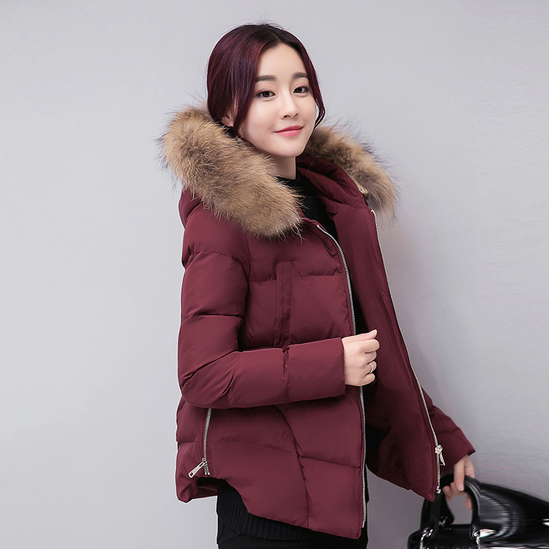 YAGENZ 2017 Korean version of the new tide hair collar hooded thick down duvets in the cotton clothing women winter wild loose yagenz 2017 new soft sister winter coat korean version of the long paragraph down jacket cotton winter thick loose cotton