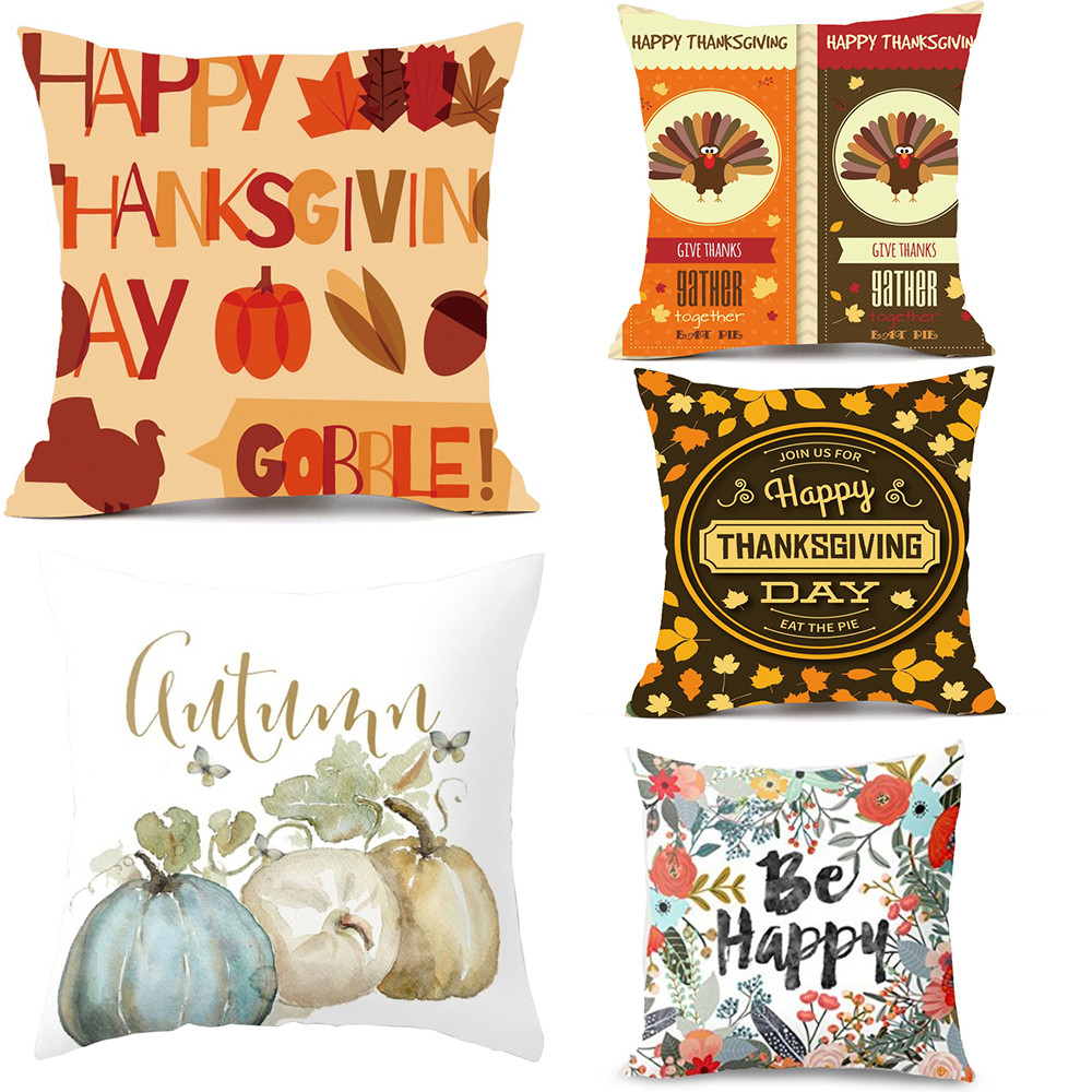 Thanksgiving Rectangle Cover Decor Pillow Case Sofa Waist Throw Cushion Cover Dropshipping Nov7
