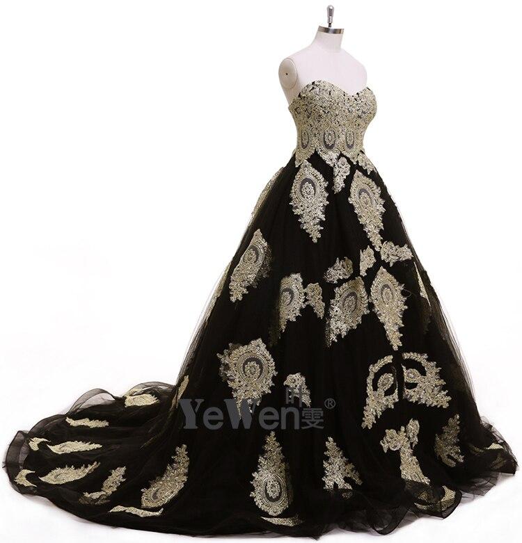 Aristokratischen stil Gold Schwarz Schatz Formales Kleid ...