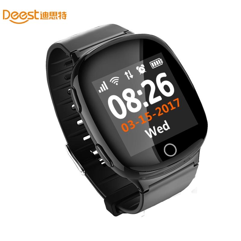 D100 Smart Watch GPS+LBS+WIFI Positioning Anti-lost Heart Rate Sports Tracker Fall Alarm SOS Wristwatch for Old People Elder