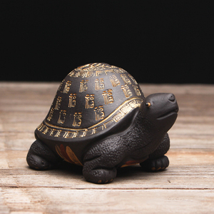 Image 5 - Criativo roxo argila chá animal de estimação tartaruga yixing zisha bule tampa titular para teatray teaboard tearoom decoração artesanato