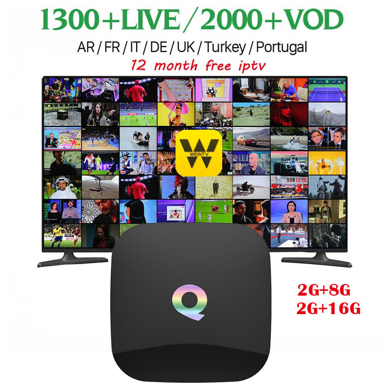 цены [WeChip] Q Box android tv box HD Media player Amlogic S905X 64bits 2GB 8GB mi box Gigabit LAN WiFi H.265 Set Top Box