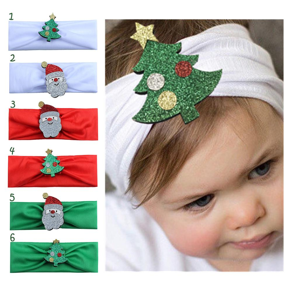 6 style Fashion Hot children kids Baby girls Headband Christmas Tree Santa Claus Headwear Hair Band Head Piece Accessories