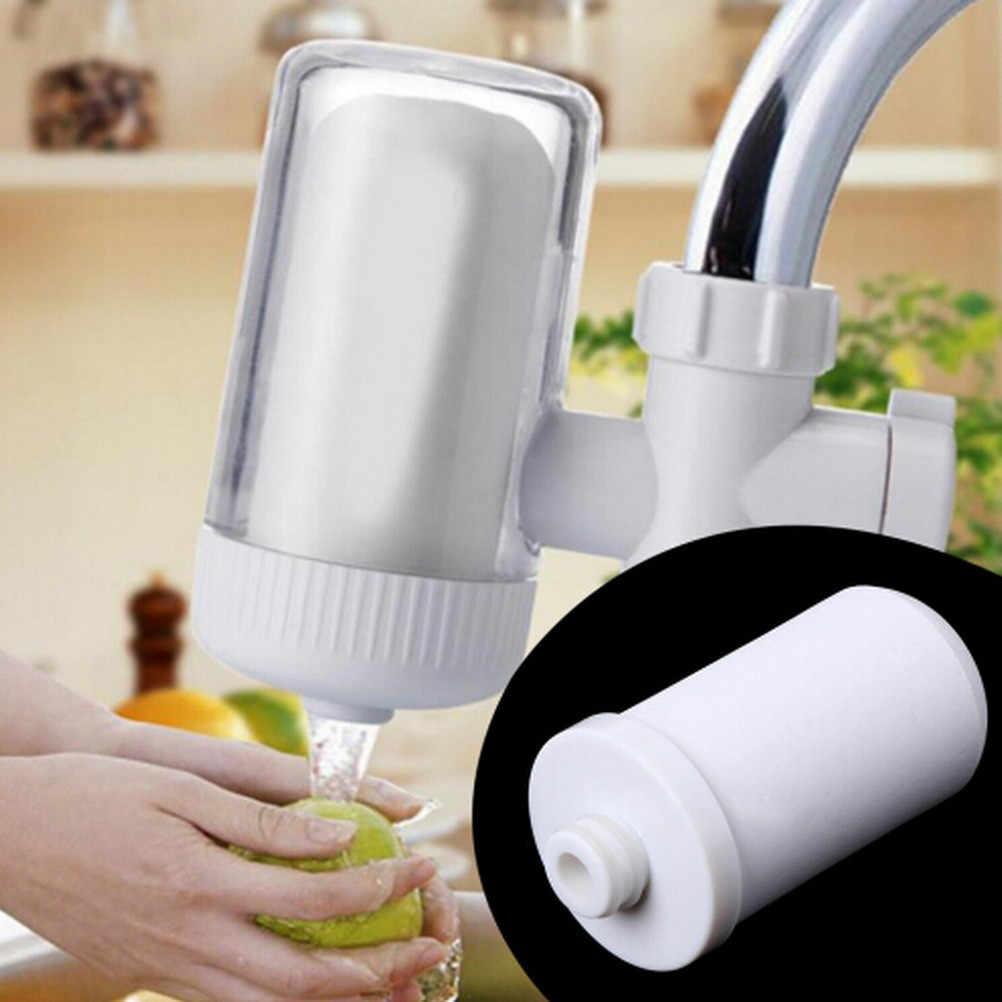 Supporto Del Rubinetto Filtro per L'acqua in ceramica Bianca Sistema di Ricambio Cartuccia Depuratore Cucina di Casa Nuovo