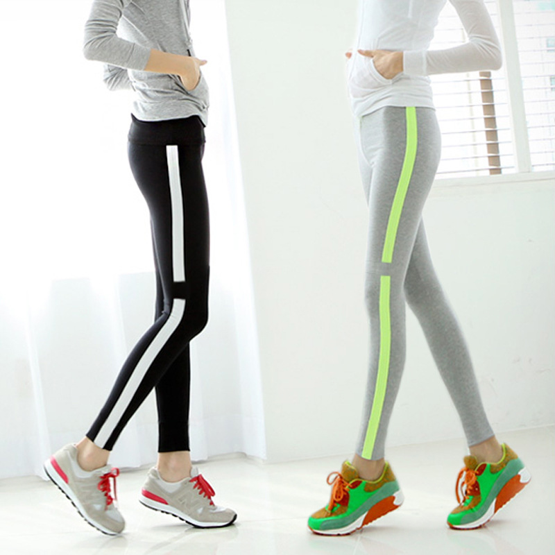 2016 women summer Korean version  thin cotton leggings autumn motion  casual trousers female wild slim S2216