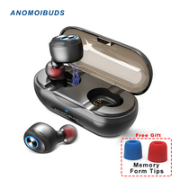 Anomoibuds Capsule Wireless Tws Bluetooth Earphone TWS Bluetooth Headphone Noise Cancelling Bluetooth 5.0 Stereo Call Earphone