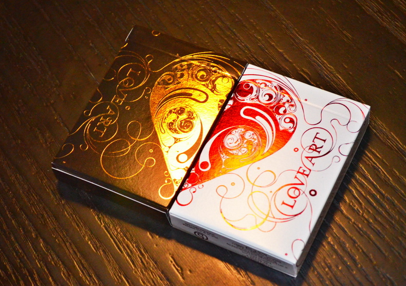 Aliexpress Buy Set of 2 Love Art Deck Gold Red Limited – Valentines Playing Cards