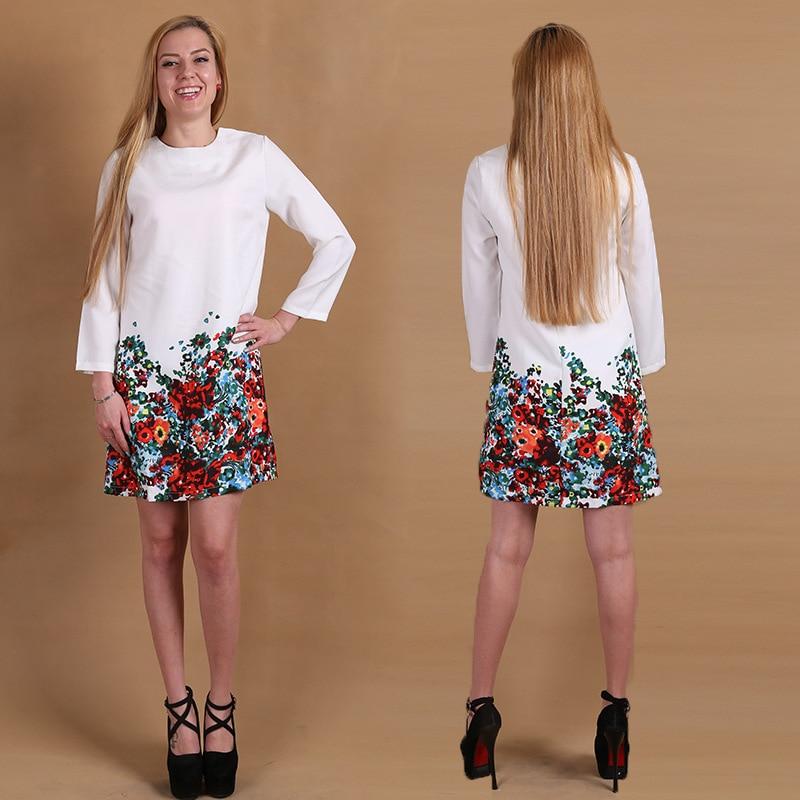 new 2015 spring summer women casual dress long sleeve catwalk star print dresses women's Chiffon Dress - ham liu's Fashion clothing store