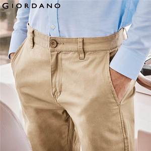 Image 4 - Giordano Men Pants Men Khaki Pantalon Homme Slim Pants Men Quality Trousers Men Cotton Business Casual Modern Pantalones Hombre