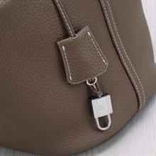 Genuine Leather Women Bucket Bag