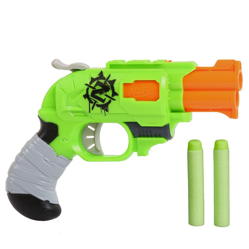 Licensed Nerf N Strike ELITE Zombie Strike Doublestrike Blaster Toy Gun  with 2 Mega Darts Refill Clip Darts nerf bullets-in Toy Guns from Toys &  Hobbies on ...