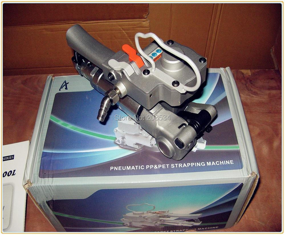 4pc Free shipping Pneumatic Strapping Banding Tool PET/PP AQD-19 width13-19mm carton firction packing machine
