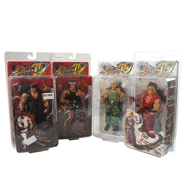 CF Anime Player Select Street Fighter IV Survival Model Toy Doll Japanese Game Character Guile RYU KEN PVC Action Figure
