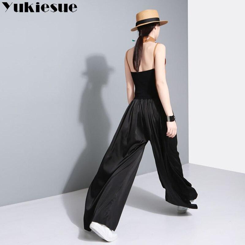 Wide leg pants capri women 2018 spring autumn loose high waist elastic solid long pants female trousers pantalon femmemujer