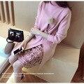2017 Мода Зимы Женщин Платье Водолазка Vestido Де Ренда Вязаный Свитер Платье Sexy Office Платье Женщины Свитера Пуловеры 936