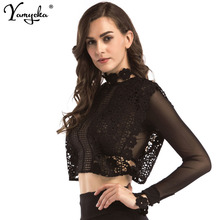 Sexy Black White Summer crop top women Hollow shirts See Through Lace Short cropped tank tops womens bustier Night club clothes jyss new summer mesh net top women black sexy night club tops girl hollow out o neck translucent short tank top female fr068