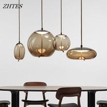 Modern design hanging lamp Study loft Bedside dining room decor Glass industrial Pendant Lamp