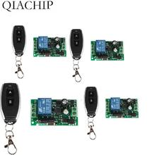 433Mhz Universal Wireless Remote Control Switch QIACHIP AC 85V 110V 220V 1CH Relay Receiver Module & RF Remote Controls 4pcs ac 85v 250v 110v 220v 250v 1ch rf wireless remote control system radio switch remote control switch learning code receiver