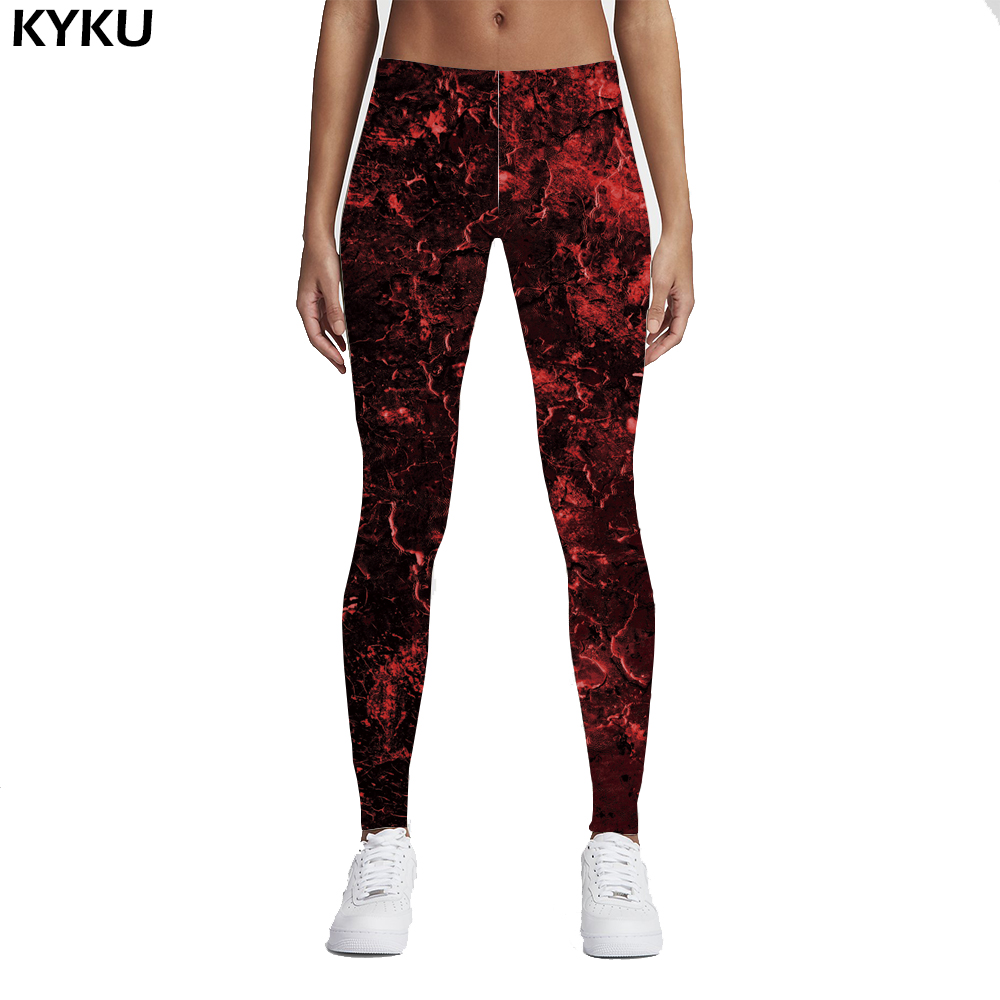 KYKU Brand New 3D Black Splatter Print Women   Legging   Skinny Long Woman Leggins Women Pant Ink Point   Leggings   Flame Punk Gothic