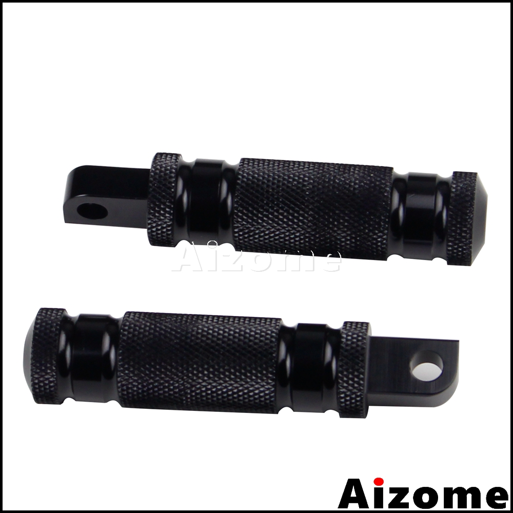 Universal Rough Crafs Motorcycle Male Mount Foot Pegs Footrest Black Foopeg For Harley Sportster Dyna Softail Custom Cafe Racer
