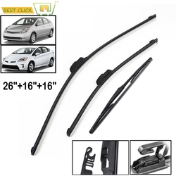 Misima Rear Front Windshield Windscreen Wiper Blades Set Kit For Toyota Prius 2003 2004 2005 2006 2007 2008 2009 2010 2011-2015