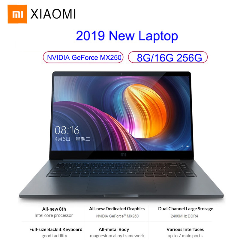 Xiaomi Mi <font><b>Notebook</b></font> Pro Gaming Laptop 15.6 Inch Windows 10 Intel Quad Core <font><b>I5</b></font>/I7 <font><b>8GB</b></font>/16GB <font><b>RAM</b></font> 256GB SSD 2G GeForce MX250 Card image