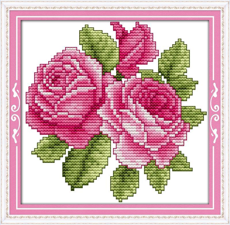 Cross Stitch Patterns Paintings Flower Of Happiness Diy Dmc Mesmerizing Cross Stitch Flower Patterns