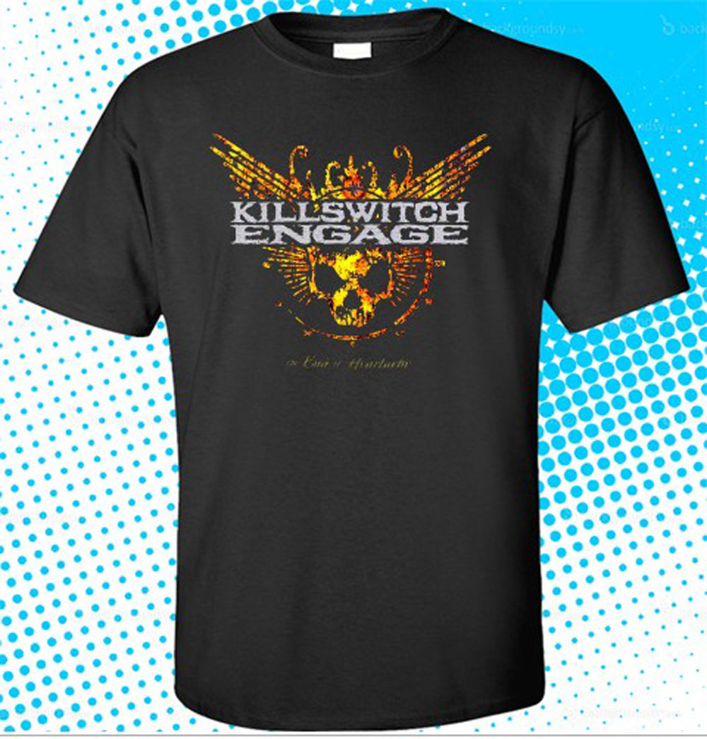 New Killswitch Engage End of Heartache Men's Black T-Shirt Size S To 3XL T Shirt Short Sleeve Leisure Fashion Summer