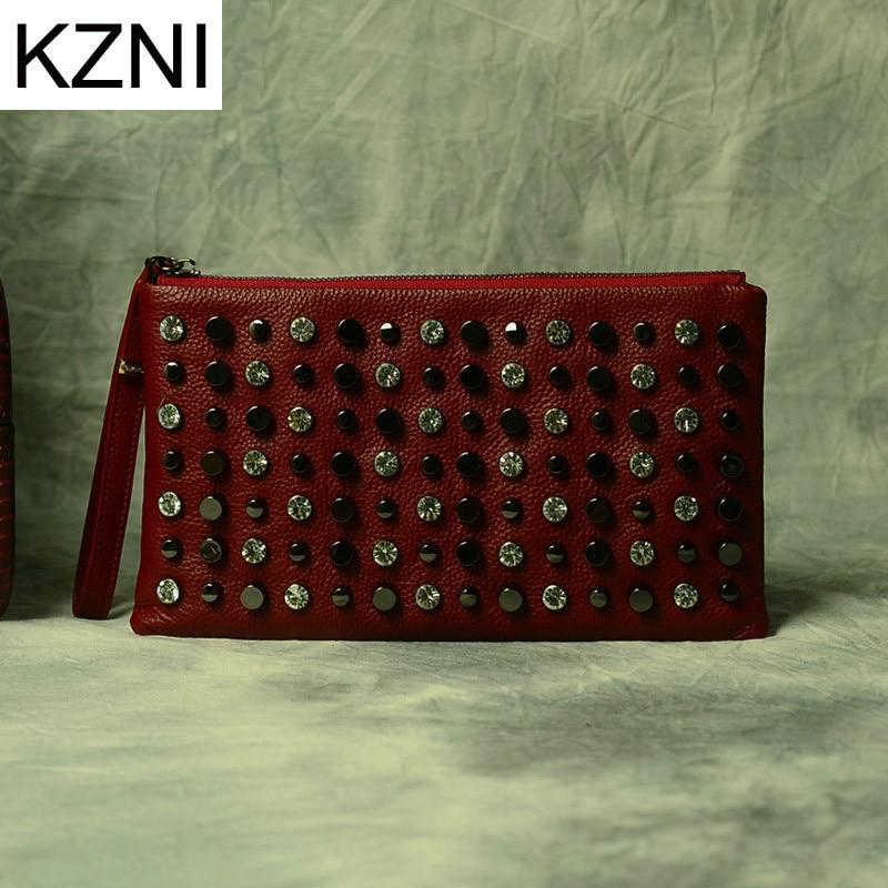 ФОТО KZNI womens genuine leather crossbody bag clutch bag purses and handbags bolsas femininas bolsas de marcas famosas L030926