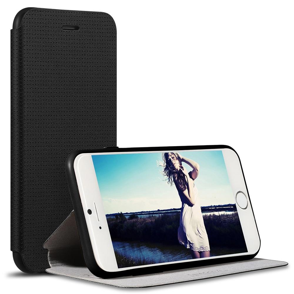 Цена за Для iPhone 6 s Дыхание ПУ Кожаный Раскладной Телефон Чехол Для iPhone 6 4.7 inch Luxury Крышка Случая Стойки