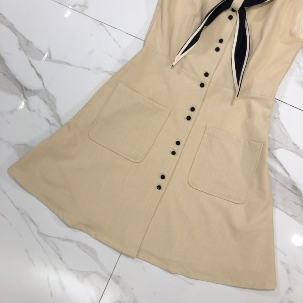 Chic women 39 s sailor collar dress 2019 summer preppy style dress A390 in Dresses from Women 39 s Clothing