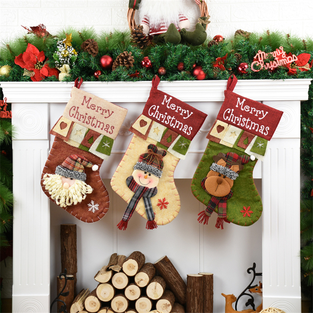 Christmas Stockings Xmas Home Decoration Accessories Christmas Gifts