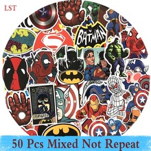 LST 50 PCS Ej Repeat Super Hero Cartoon Sticker För Laptop Bagage Väskor Bike Car Styling Cool Leksaker Doodle PVC Creative Stickers