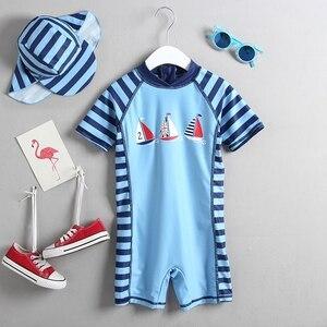 Image 2 - 1 3T ملابس سباحة للأطفال قطعة واحدة الرضع طفل الفتيان ملابس السباحة الكرتون الوليد الاطفال الاستحمام دعوى الشمس المحمية الأطفال الشاطئ بركة ارتداء