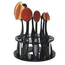 Showing Shelf 10 Hole Oval Makeup Brush Holder Drying Rack Organizer Cosmetic Shelf Tool g6826