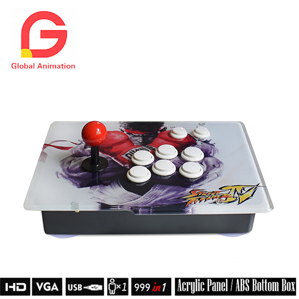 Classic Single / Double Game Box Plus Arcade Game Console 999 Retro Games Metal Double Stick Console Support HDMI and VGA double joystick family arcade games console pandora s box 4s 815 in 1 game board