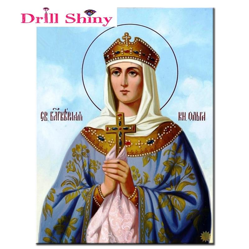 3d diamond embroidery Religion Icon diamond cross stitch 5d diy diamond painting picture rhinestones mosaic kit