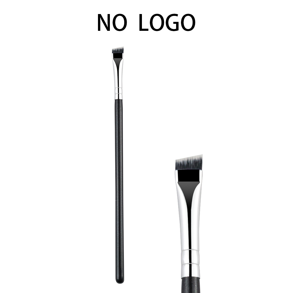 BEILI No Logo Black Professional Brow Brush Eye Liner Makeup Tool Synthetic Hair Single Wing Liner Makeup Brush